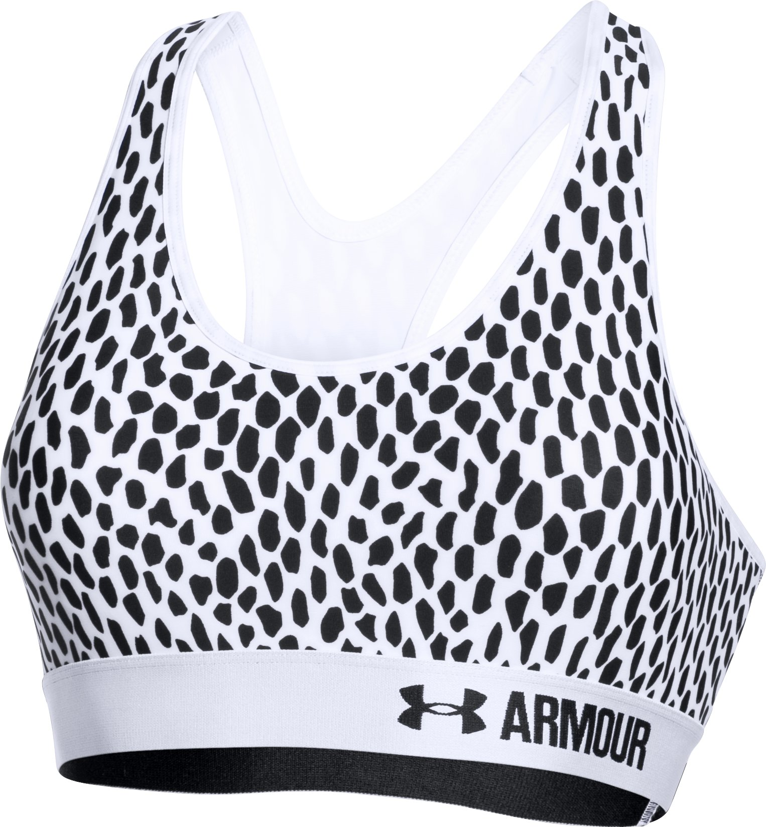 Women's  Armour® Mid w/Cups – Printed, White, undefined