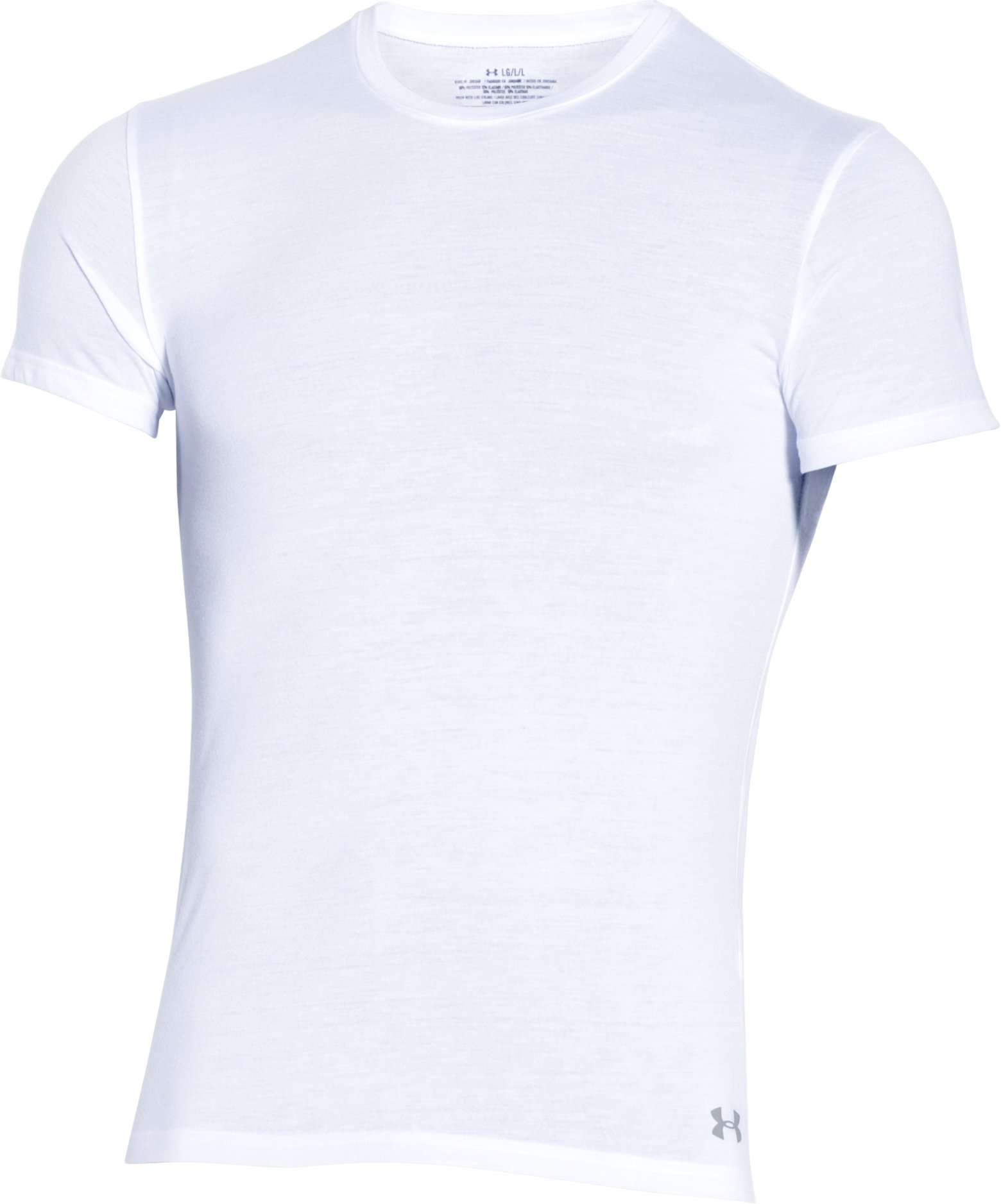Men's UA Core Crew Undershirt, White, undefined