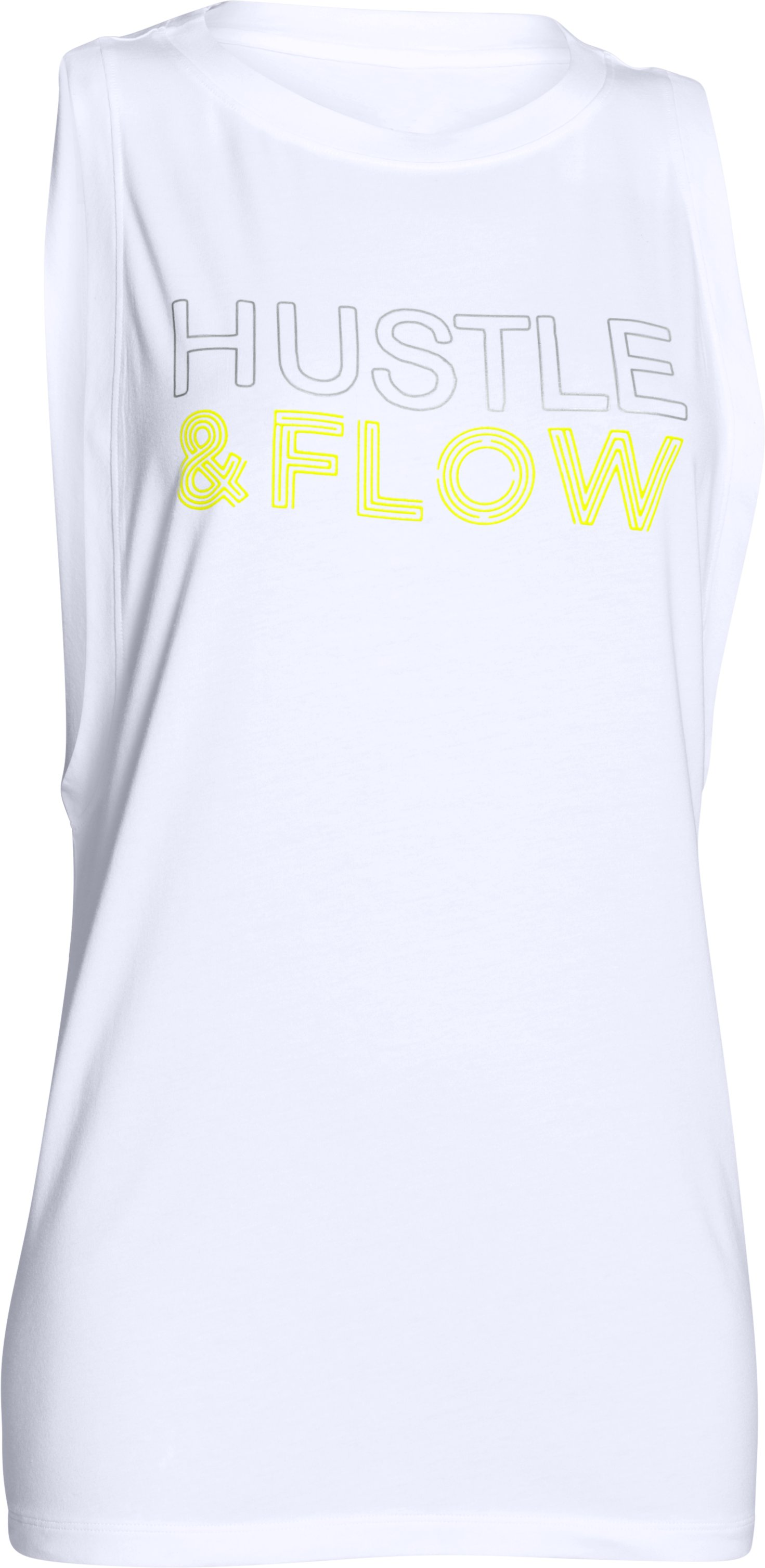 Women's UA Studio Roga Muscle Tank, White,