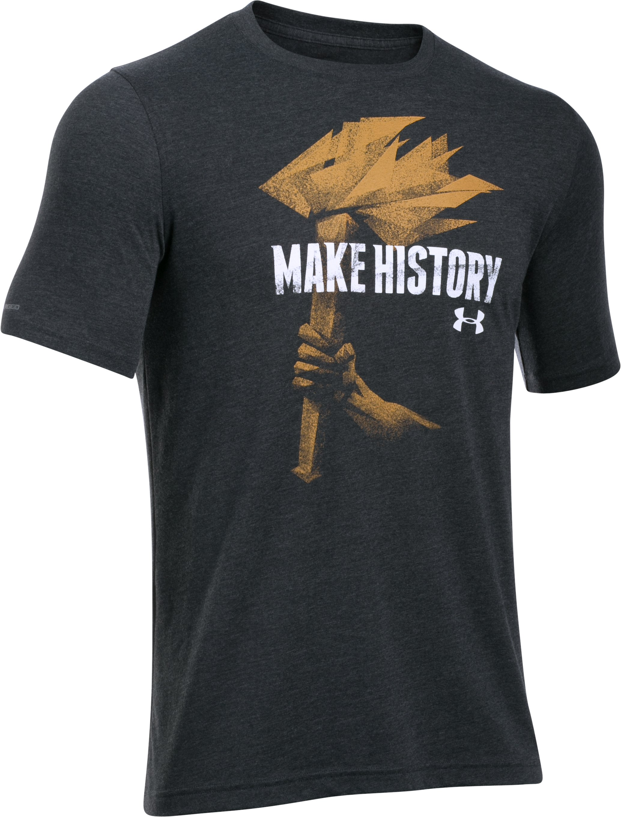 Men's UA Make History T-Shirt, Asphalt Heather