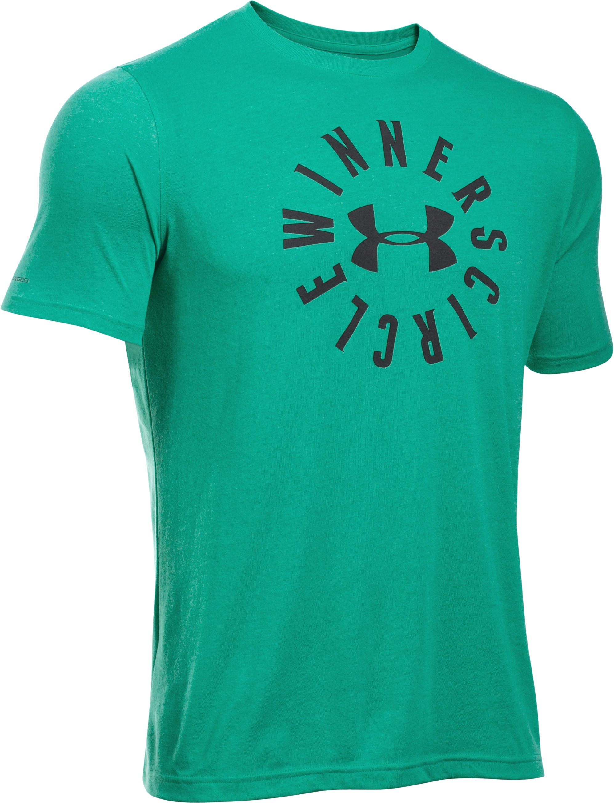 Men's UA Winners Circle T-Shirt, GREEN MALACHITE