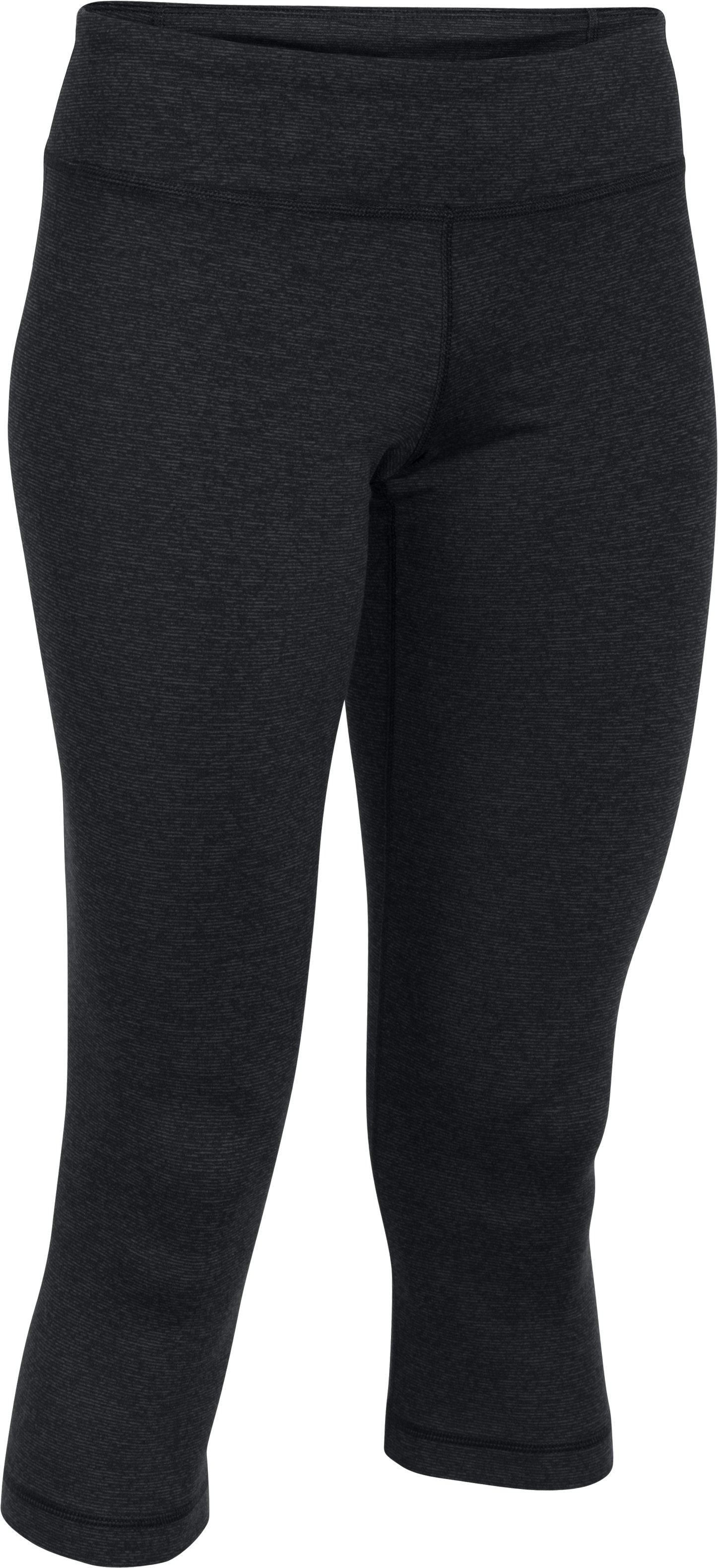 Women's UA Mirror Capris, Asphalt Heather,