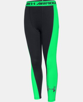 Boys' UA HeatGear® Armour Up Logo Fitted Leggings   $22.49