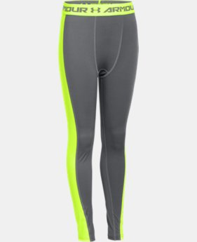 Boys' UA HeatGear® Armour Up Logo Fitted Leggings   $29.99