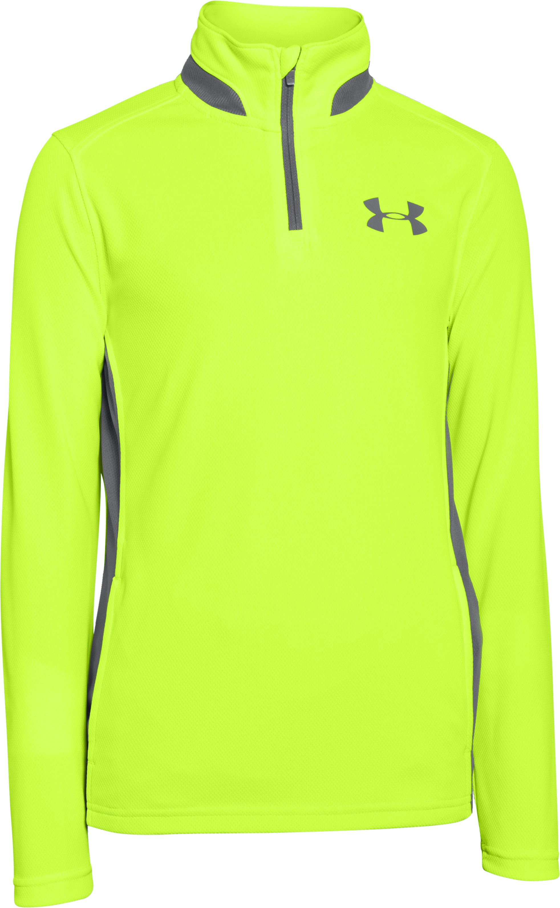 Boys' UA Fairway ¼ Zip, FUEL GREEN