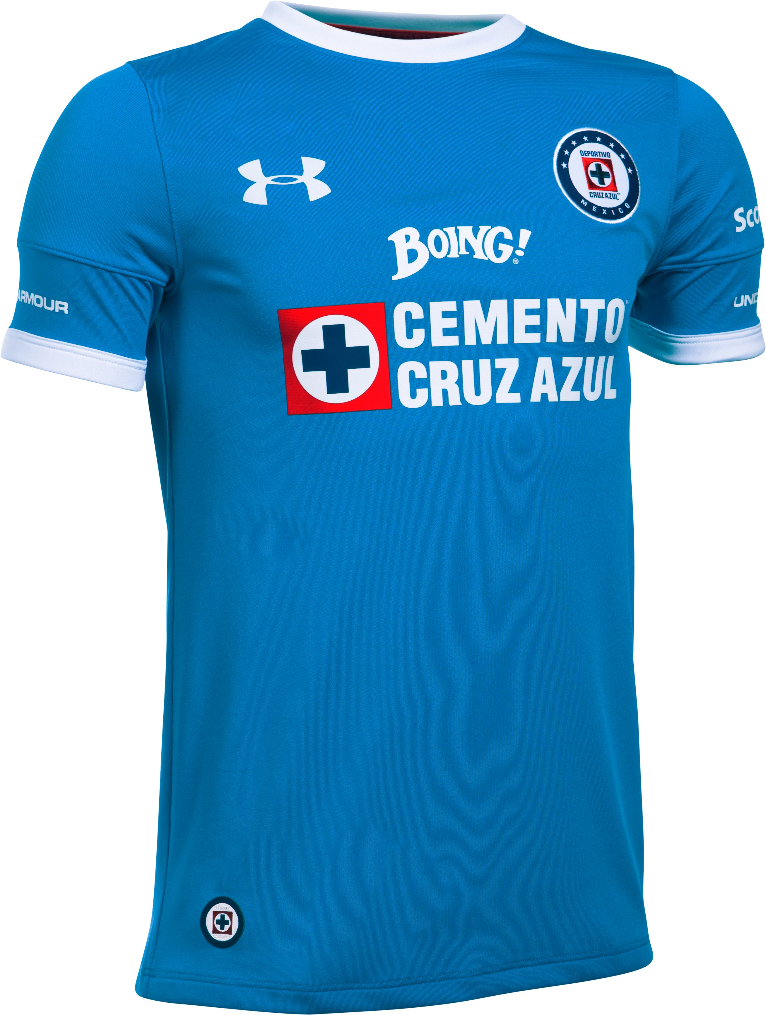 Kids' Cruz Azul 16/17 Home/Third Replica Jersey, Blue Taro,