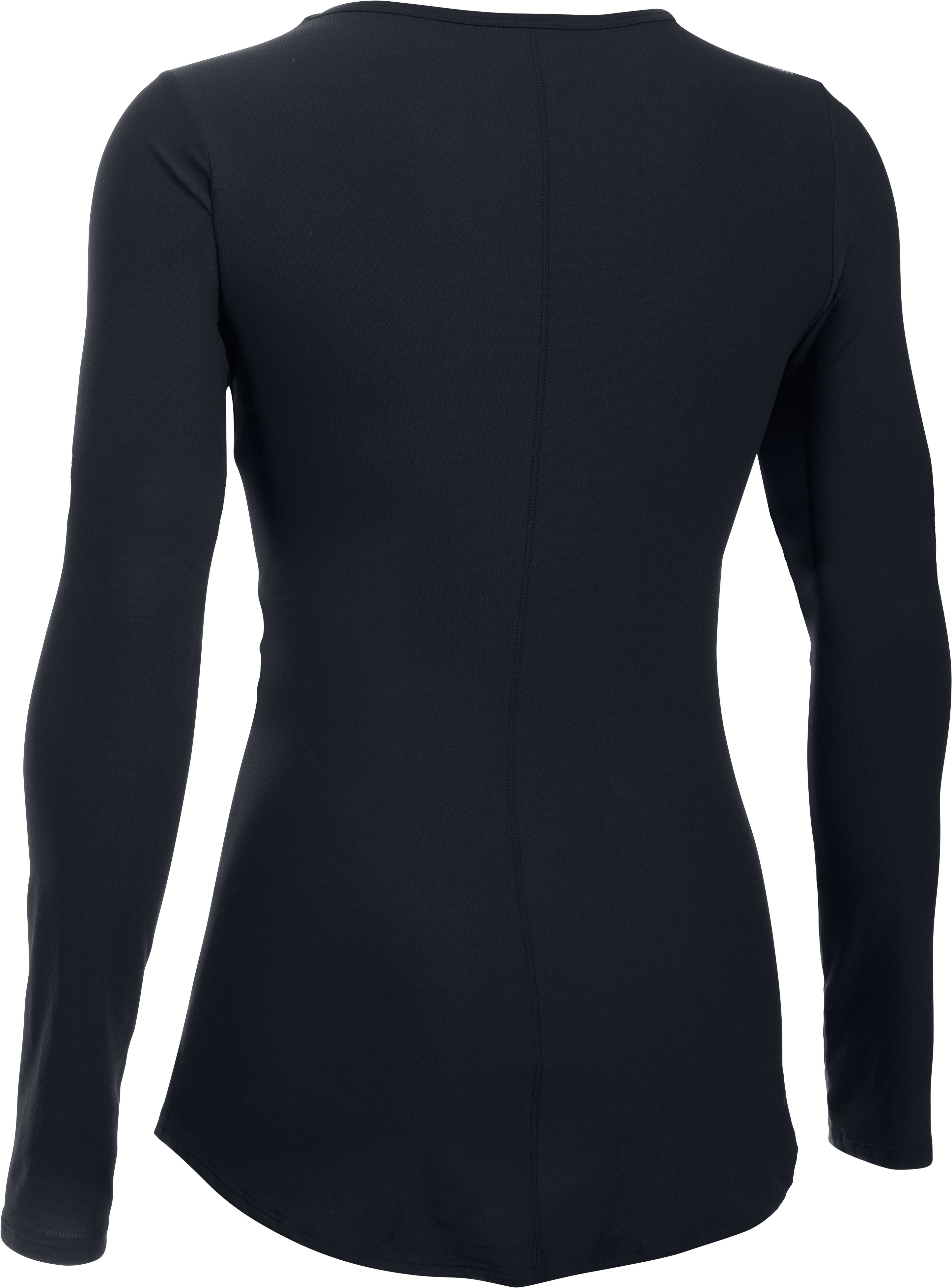 Women's UA CoolSwitch Run Long Sleeve, Black