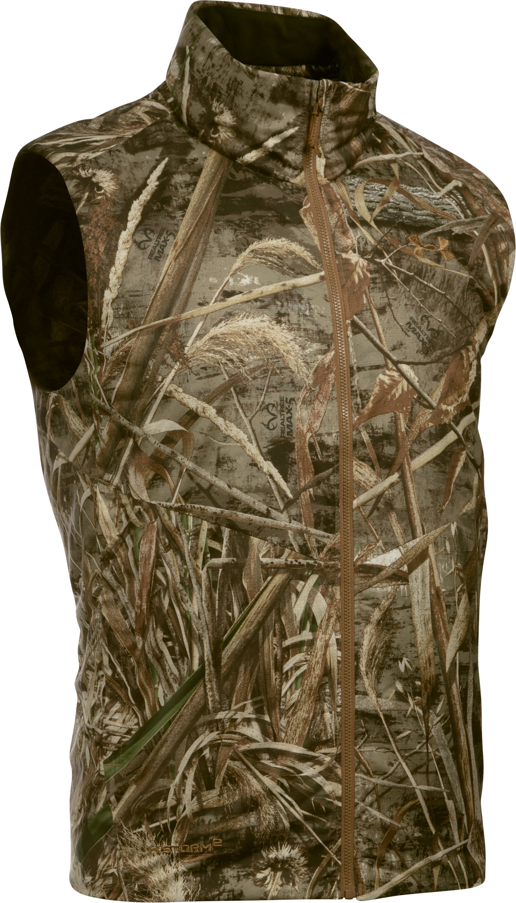 Men's UA Skysweeper Down Packable Vest, REALTREE MAX 5,