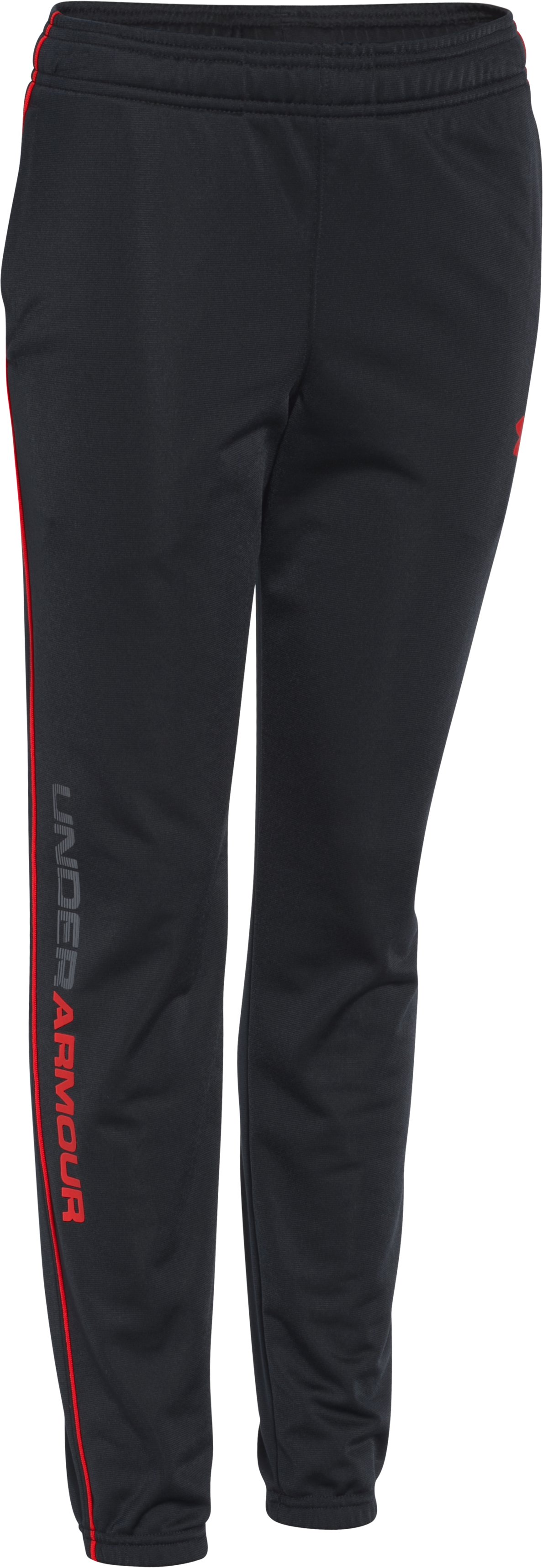 Boys' UA Contender Tapered Warm-Up Pants, Black ,