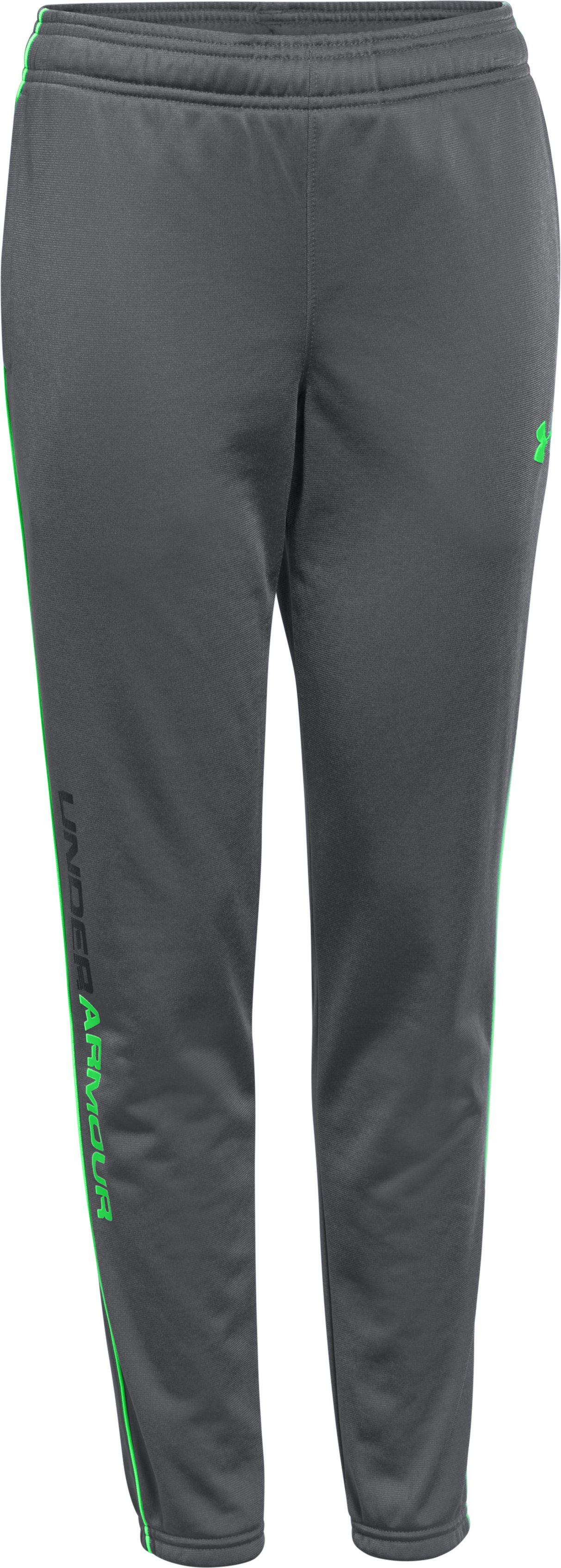 Boys' UA Contender Tapered Warm-Up Pants, Graphite, zoomed image