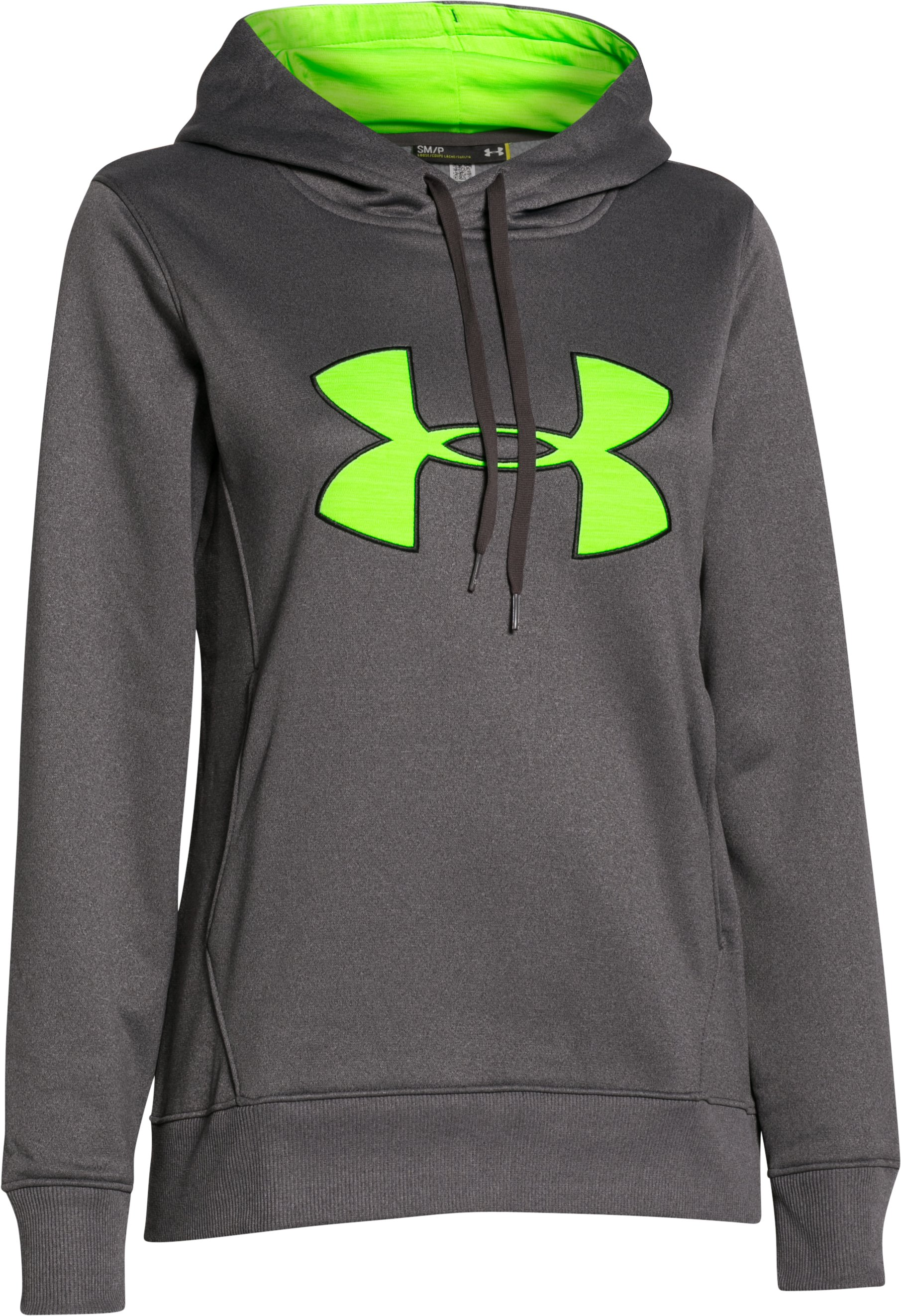 Women's UA Armour® Fleece Big Logo Hoodie, Carbon Heather, undefined