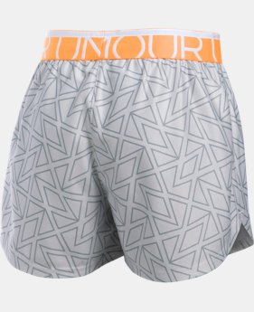 Girls' UA Printed Play Up Shorts LIMITED TIME: FREE SHIPPING 1 Color $17.99 to $19.99