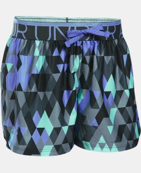 New Arrival Girls' UA Printed Play Up Shorts  2 Colors $22.99