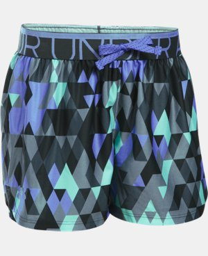 New Arrival Girls' UA Printed Play Up Shorts LIMITED TIME: FREE U.S. SHIPPING 1 Color $22.99