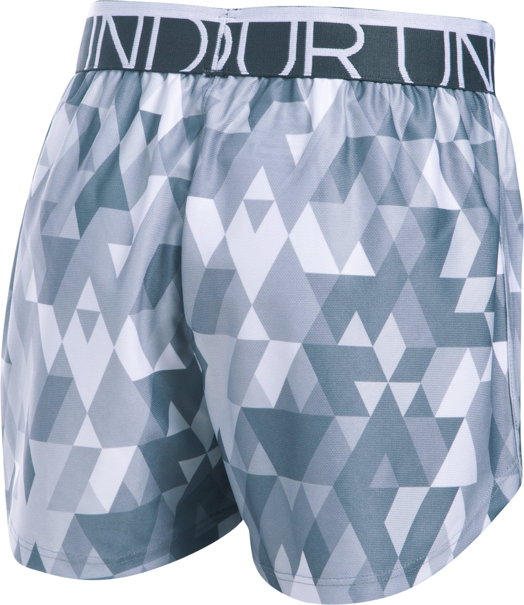 Girls' UA Printed Play Up Shorts, White,