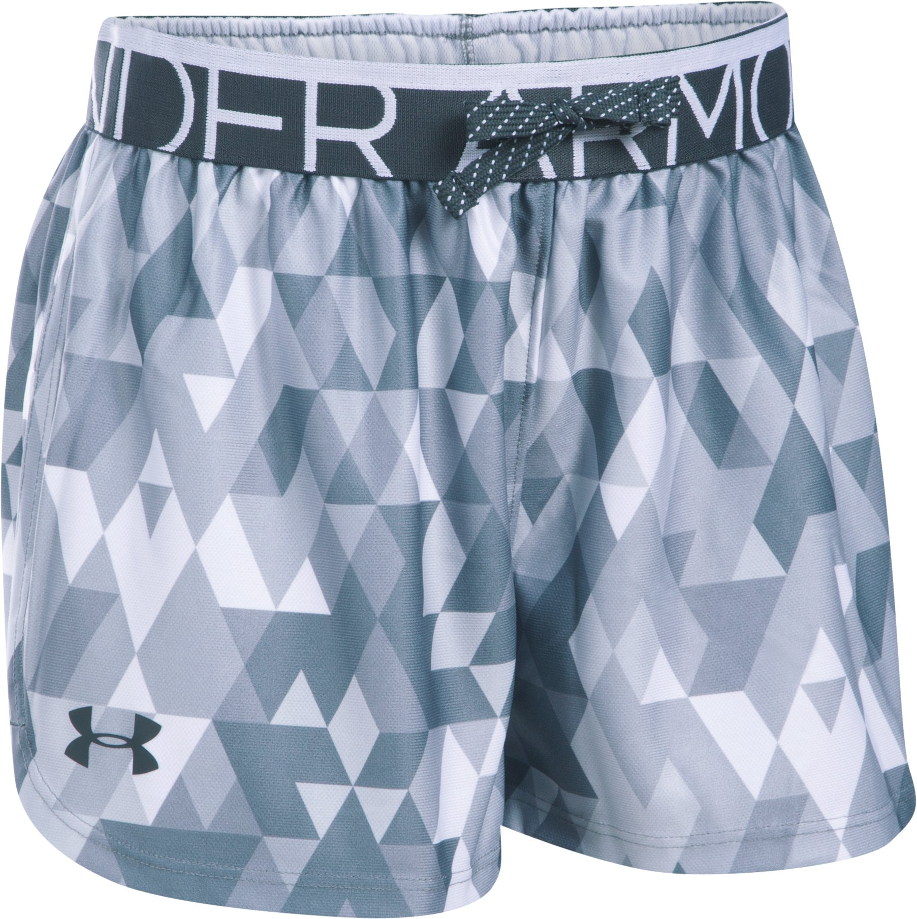 Girls' UA Printed Play Up Shorts, White