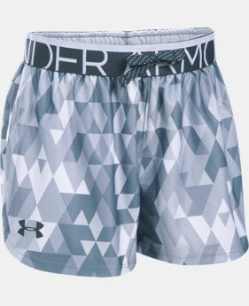 New Arrival Girls' UA Printed Play Up Shorts LIMITED TIME: FREE U.S. SHIPPING  $22.99