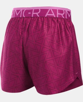 Girls' UA Printed Play Up Shorts  1 Color $17.99 to $19.99