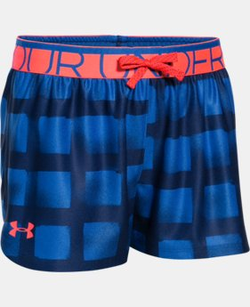 Girls' UA Printed Play Up Shorts  4 Colors $17.99