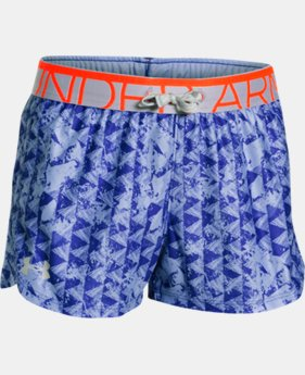 Girls' UA Printed Play Up Shorts  1 Color $17.99