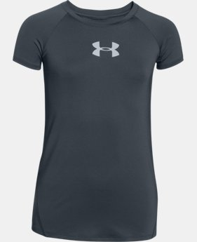 Girls' UA CoolSwitch Short Sleeve LIMITED TIME: FREE SHIPPING 1 Color $20.24