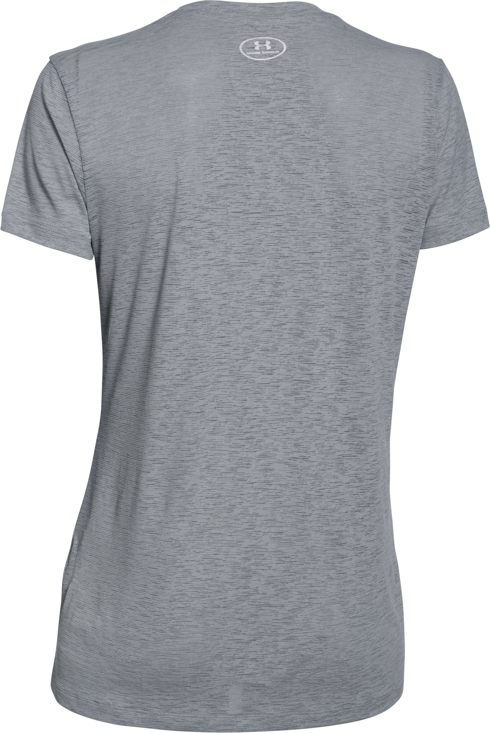Women's UA Tech™ Slub V-Neck, Steel, undefined