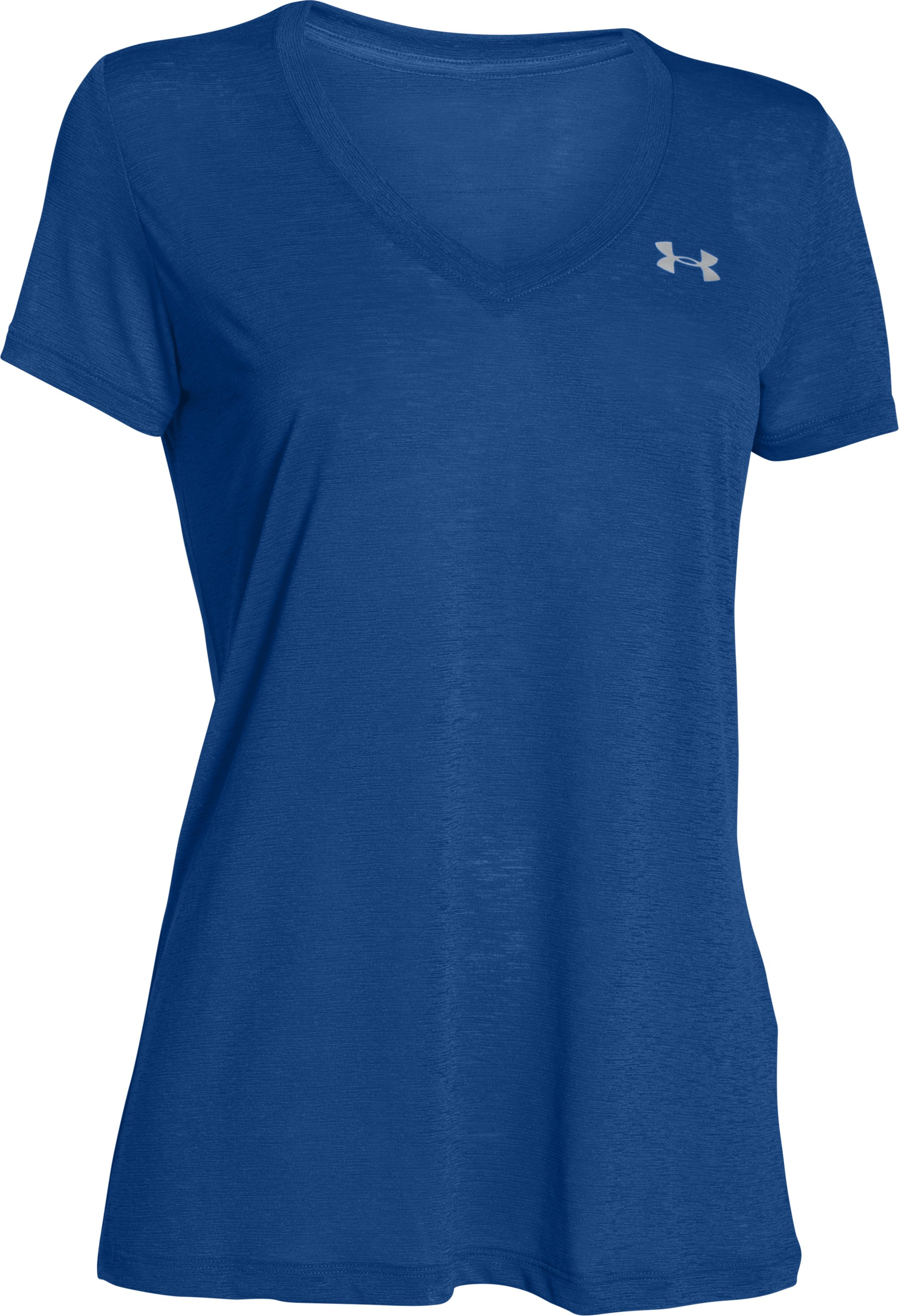 Women's UA Tech™ Slub V-Neck, COBALT, undefined