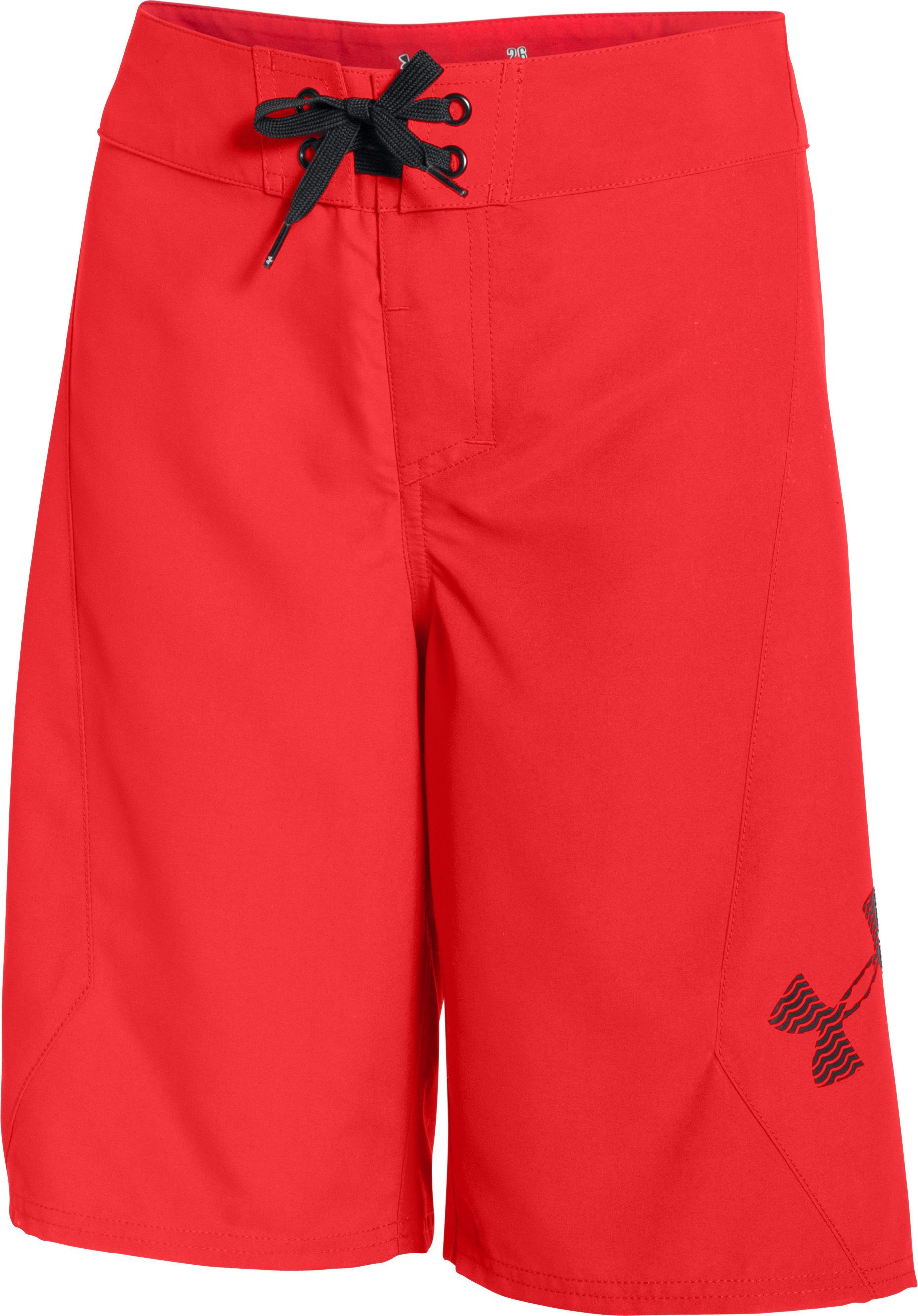 Boys' UA Shorebreak Boardshorts, ROCKET RED, zoomed image