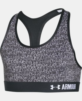 New Arrival  Girls' UA HeatGear® Armour Printed Sports Bra  2 Colors $29.99