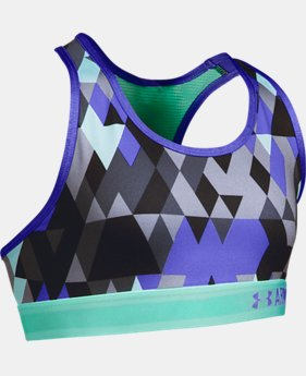 New Arrival  Girls' UA HeatGear® Armour Printed Sports Bra LIMITED TIME: FREE SHIPPING 2 Colors $22.99 to $29.99