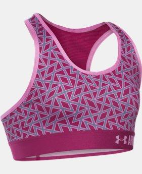 Girls' UA HeatGear® Armour Printed Sports Bra LIMITED TIME: FREE SHIPPING 3 Colors $29.99