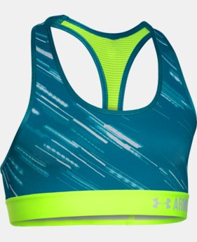 New to Outlet Girls' UA HeatGear® Armour Printed Sports Bra  3 Colors $11.24 to $18.99