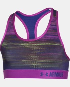 Girls' UA HeatGear® Armour Printed Sports Bra  3 Colors $17.99 to $29.99