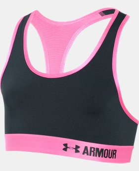 Girls' UA HeatGear® Armour Solid Sports Bra  3 Colors $17.99