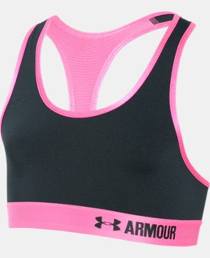 New to Outlet Girls' UA HeatGear® Armour Solid Sports Bra  1 Color $13.49 to $13.99