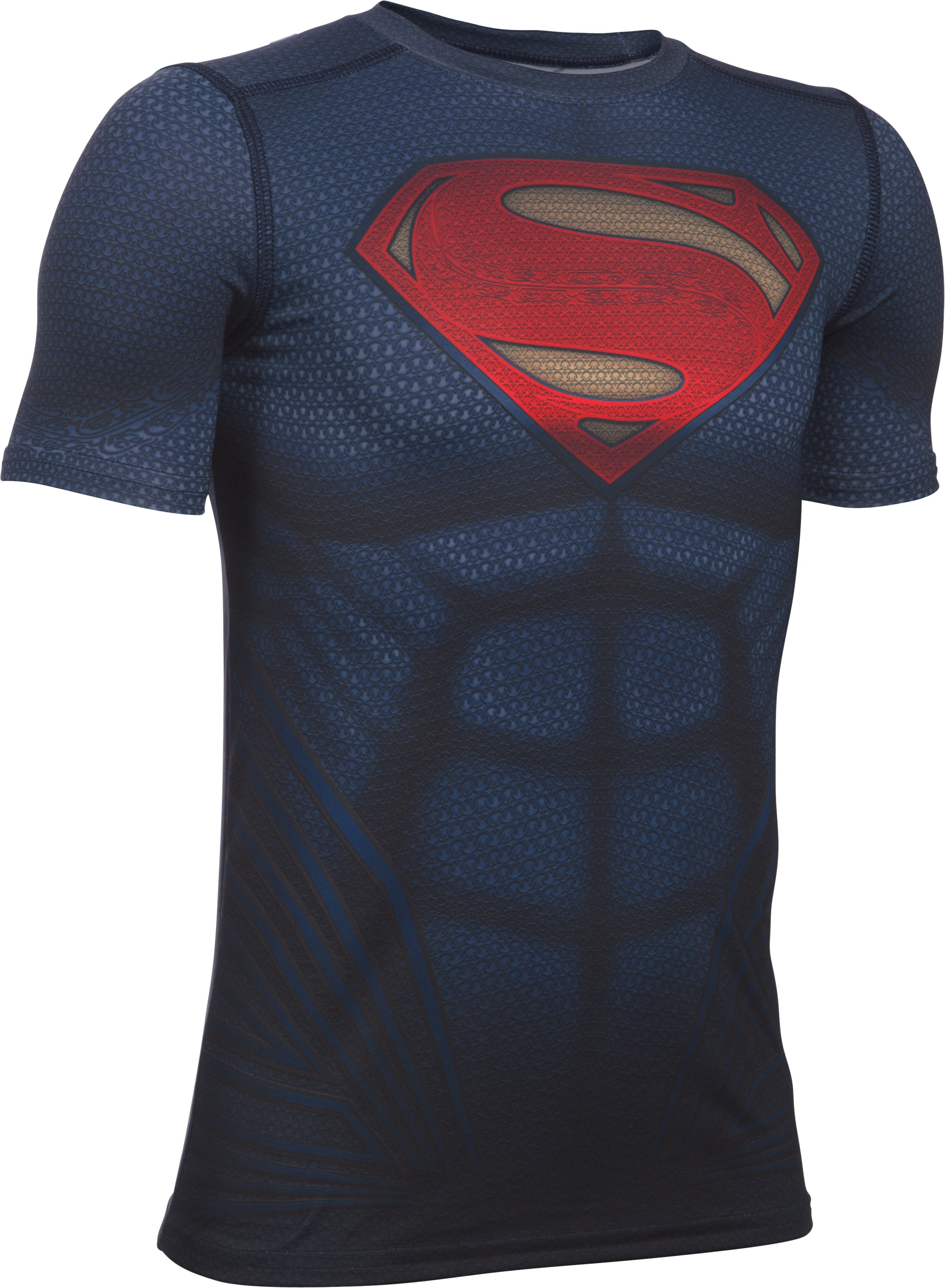 Boys' Under Armour® Superman Fitted Shirt, Midnight Navy,