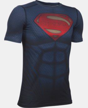 New Arrival Boys' Under Armour® Alter Ego Superman Fitted Shirt  1 Color $49.99