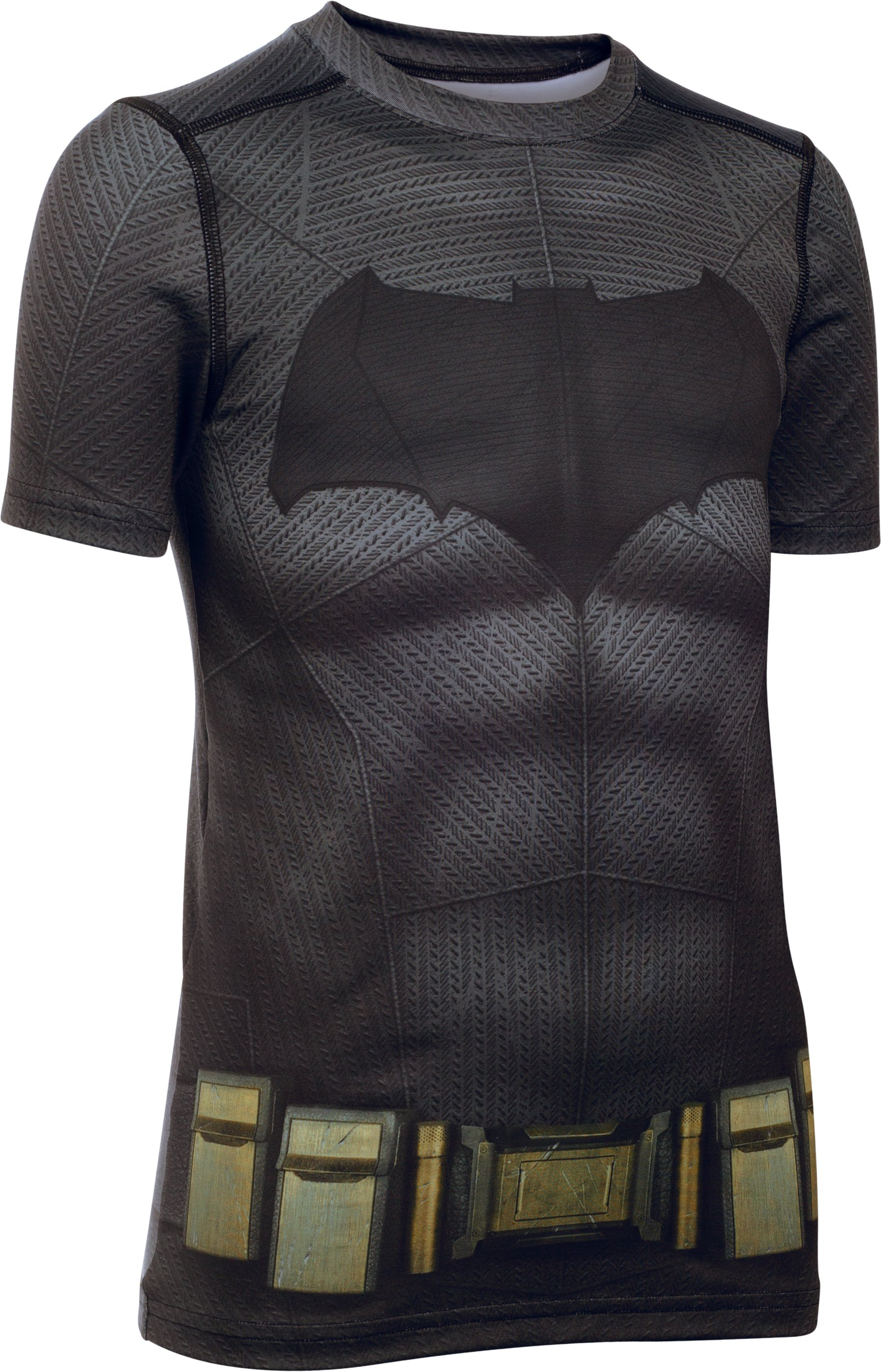 Boys' Under Armour® Alter Ego Batman Fitted Shirt, Graphite, undefined