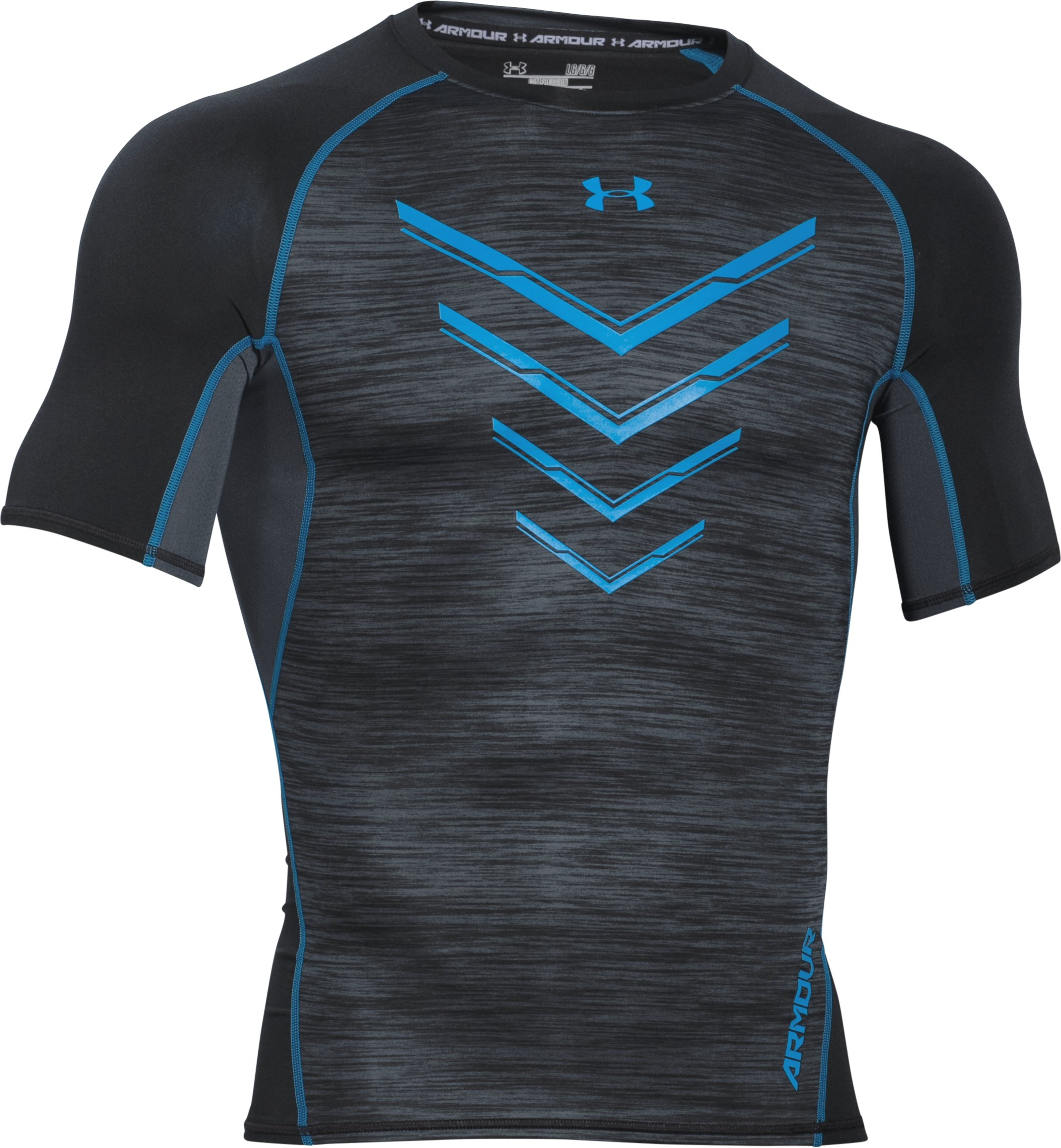 Men's UA HeatGear® Armour Twist Flight Compression Shirt, Black , undefined