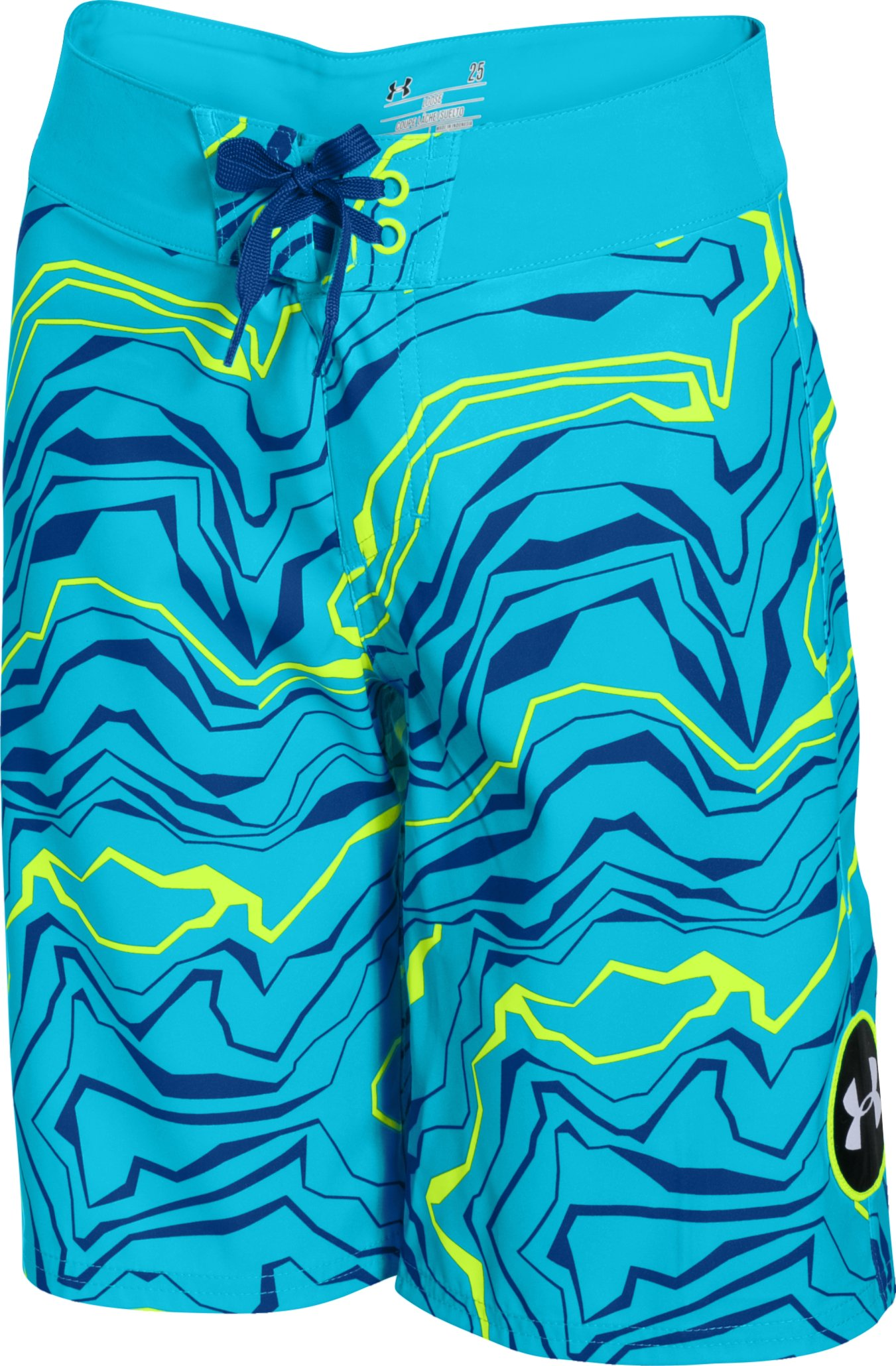 Boys' UA Barrel Boardshorts, MERIDIAN BLUE,