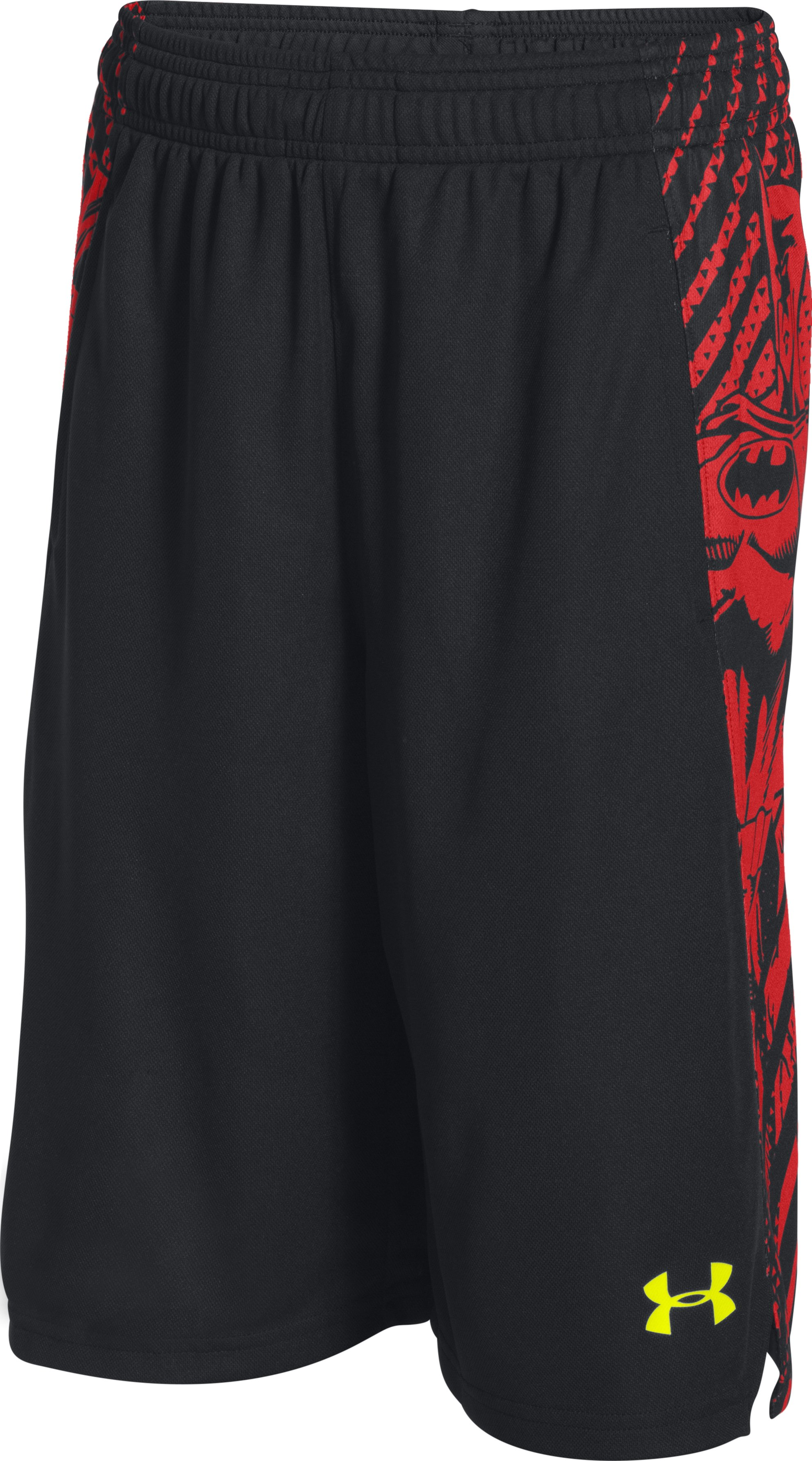 Boys' Under Armour® Alter Ego Superman Vs. Batman Shorts, Black , zoomed image