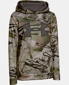 Boys' UA Armour® Fleece Camo Big Logo Hoodie  2 Colors $33.74