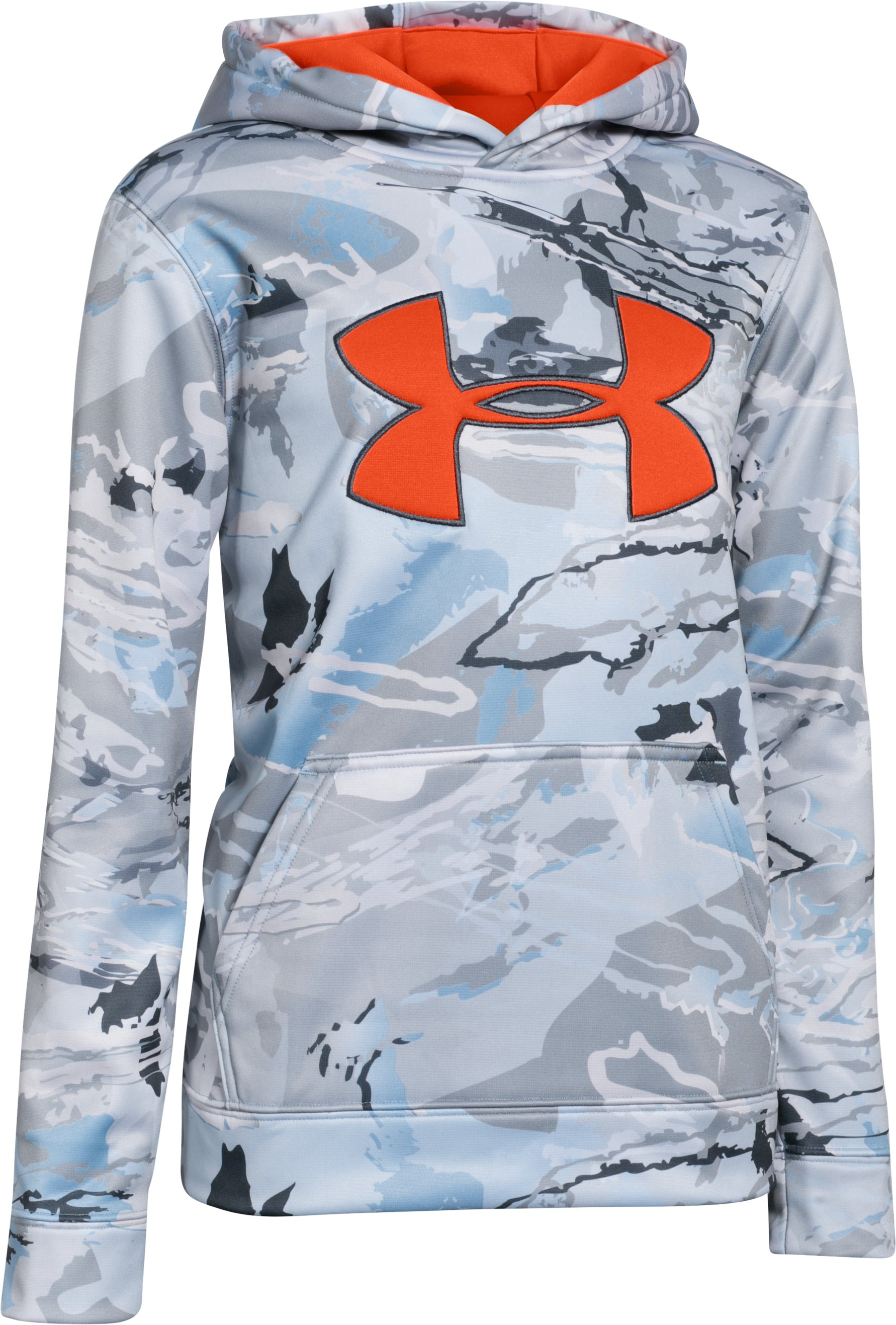 Boys' UA Armour® Fleece Camo Big Logo Hoodie, RIDGE REAPER® HYDRO, zoomed image