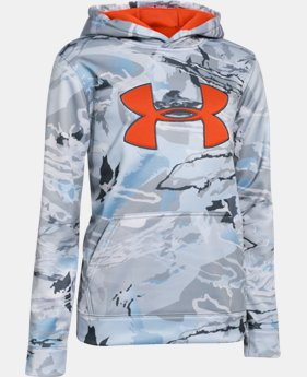 Boys' UA Armour® Fleece Camo Big Logo Hoodie  2 Colors $69.99