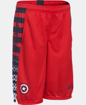 New Arrival Boys' Under Armour® Alter Ego Captain America Shorts LIMITED TIME: FREE SHIPPING 1 Color $34.99