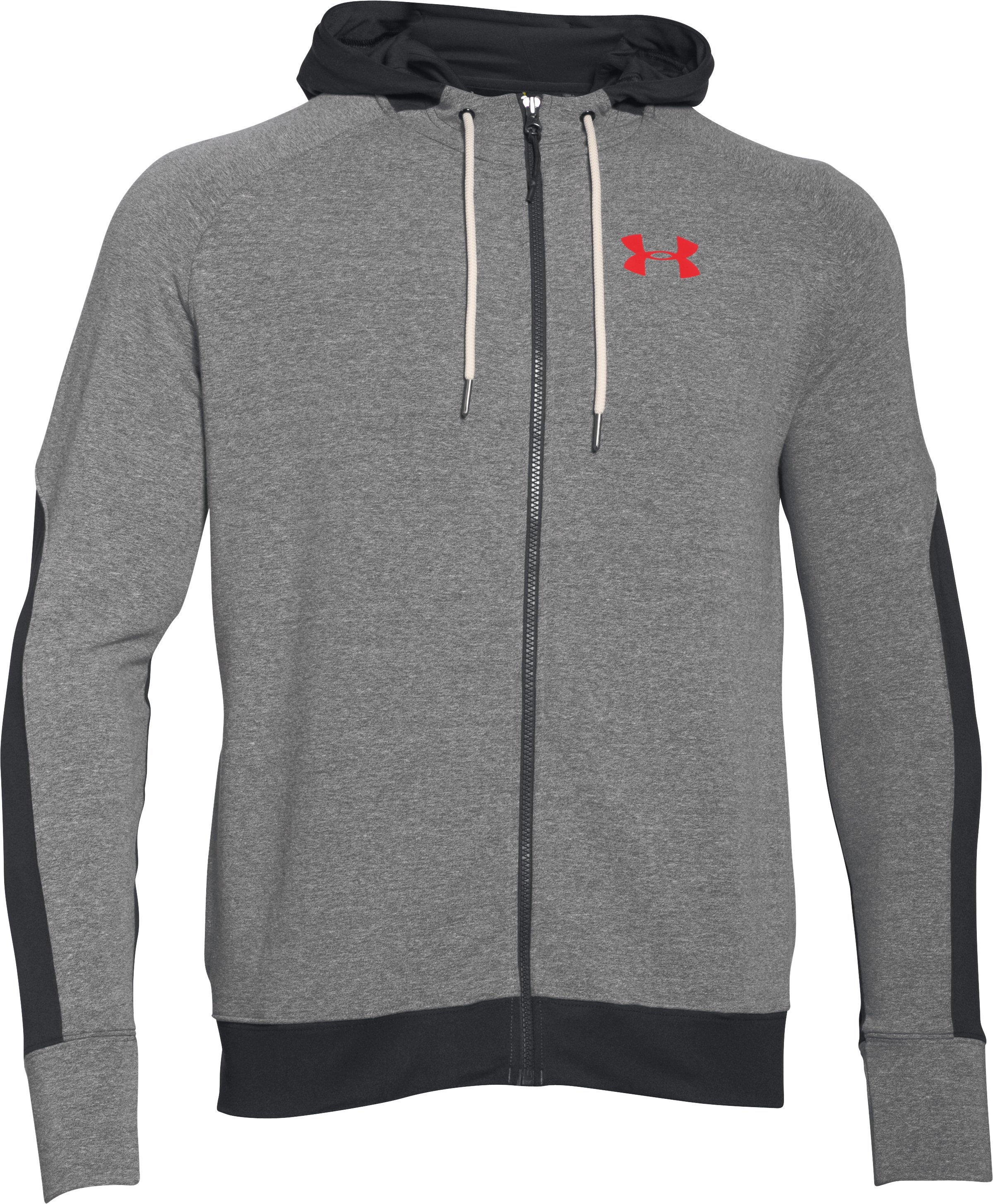 Men's UA x Muhammad Ali Terry Hoodie, GREYHOUND HEATHER