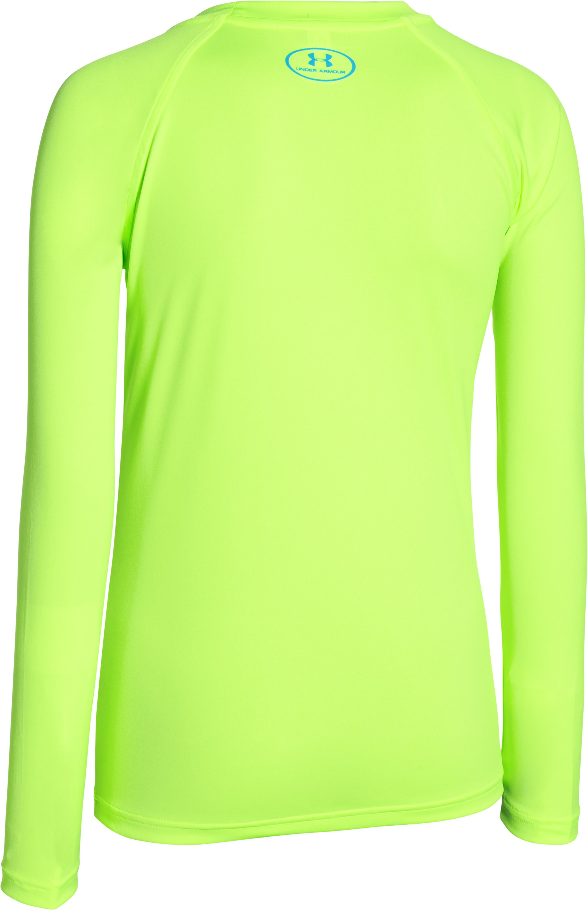 Boys' UA Slasher Long Sleeve Surf T-Shirt, FUEL GREEN,