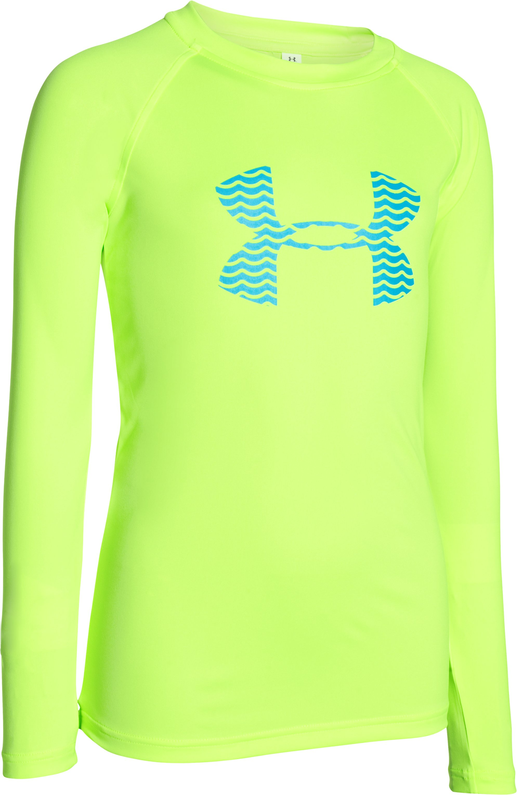 Boys' UA Slasher Long Sleeve Surf T-Shirt, FUEL GREEN
