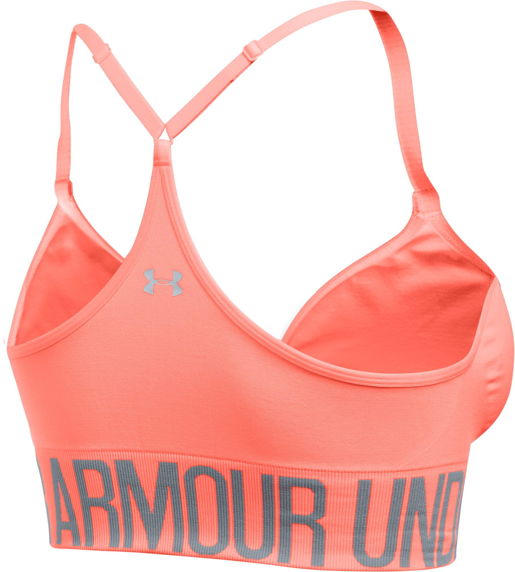 Women's Armour® Seamless Sports Bra, LONDON ORANGE, undefined