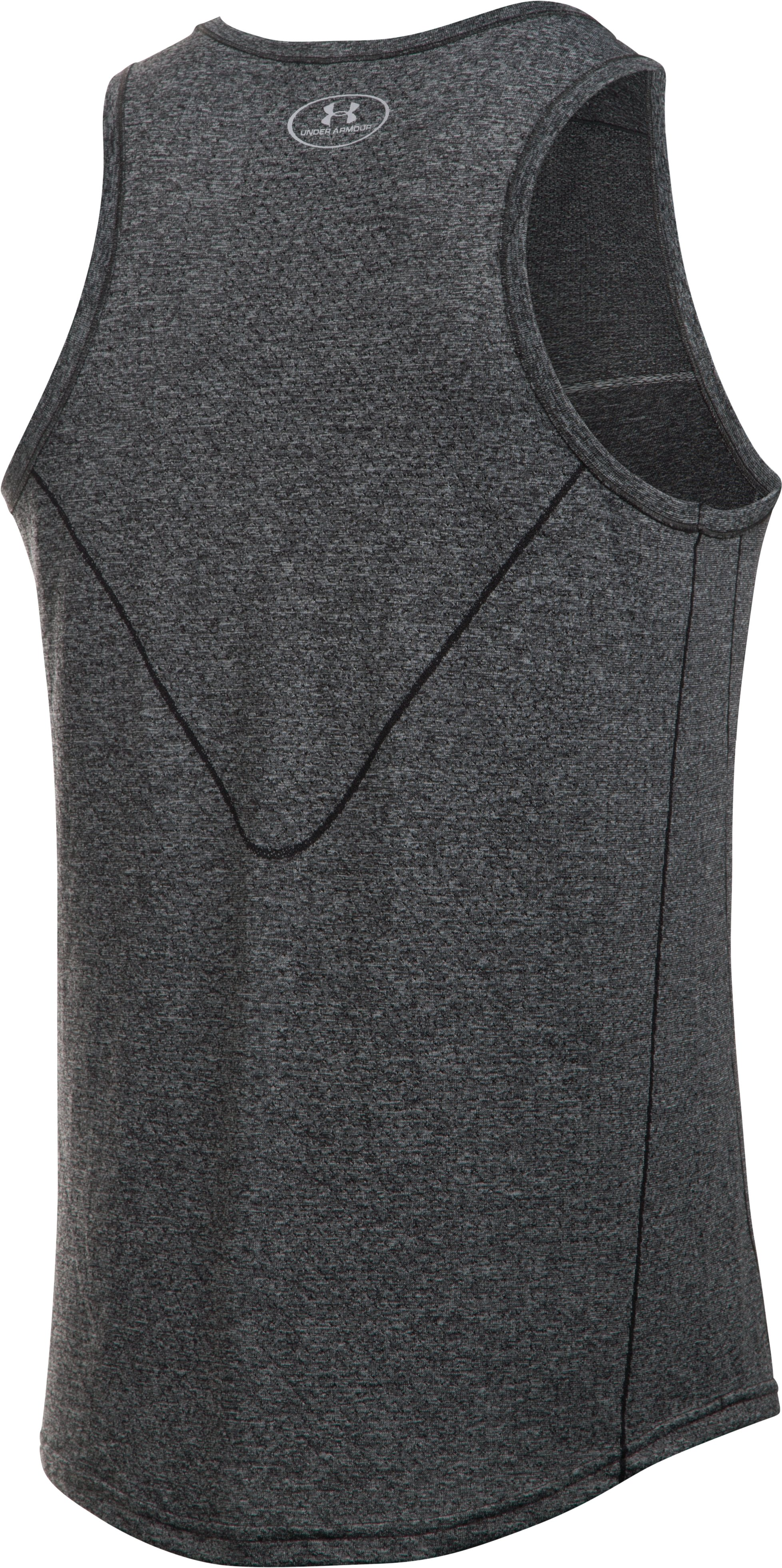 Men's UA Run Seamless Singlet, Carbon Heather,